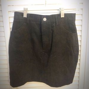 SHEIN black corduroy skirt